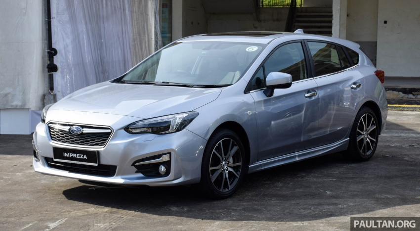 2017 Subaru Impreza launched in Singapore – sedan and hatchback; NA 1.6L and 2.0L CVT with AWD Image #602904