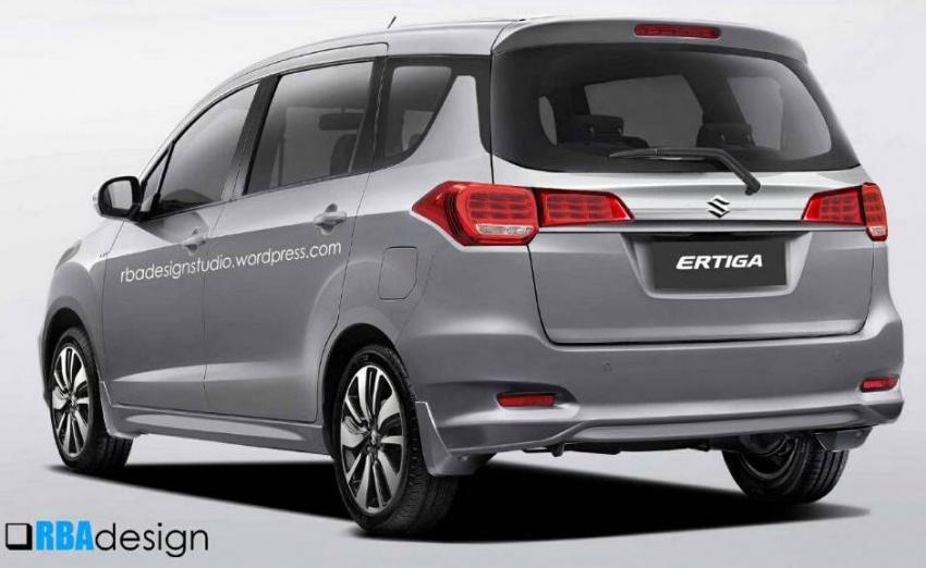 Next-gen Suzuki Ertiga rendered with new Swift styling Image #597610