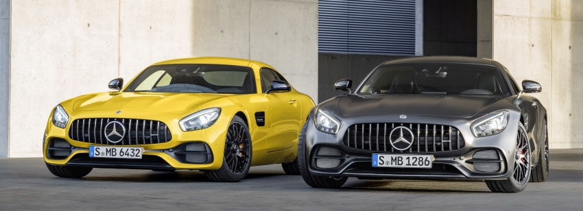 Mercedes-AMG GT C Coupe debuts in Detroit – AMG GT and GT S get styling and tech updates for 2017 Image #601102