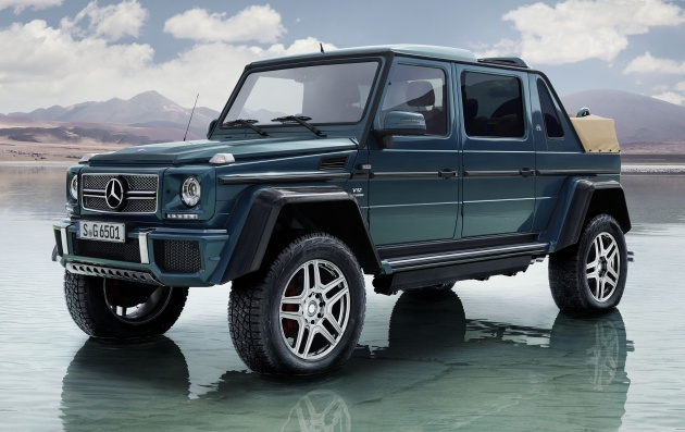 mercedes-maybach g650 landaulet revealed – open-top, off-road luxury
