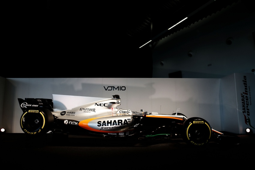 Force India unveils its 2017 Formula 1 car – the VJM10 Image #619907
