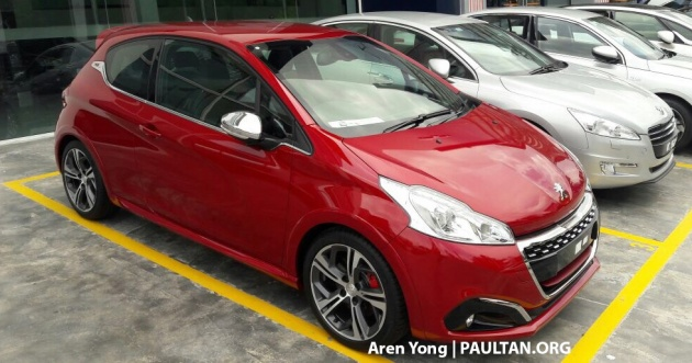 peugeot 208 gti facelift spotted in m 39 sia q1 launch. Black Bedroom Furniture Sets. Home Design Ideas