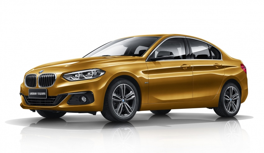 BMW 1 Series Sedan launched in China, only for China Image #621542