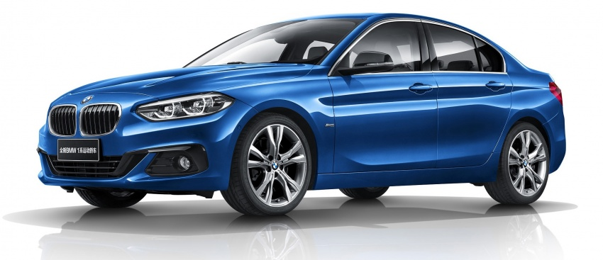 BMW 1 Series Sedan launched in China, only for China Image #621547