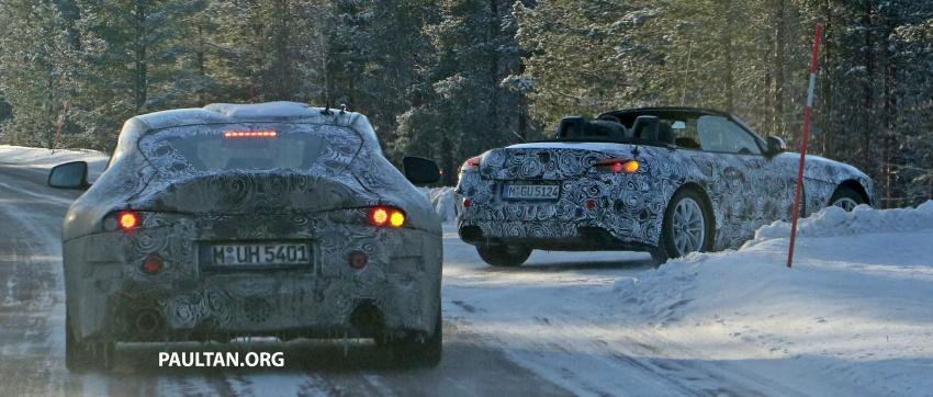 SPYSHOT: BMW Z5 dijumpai jalani ujian musim sejuk dengan kembarnya Toyota Supra generasi baharu Image #618459