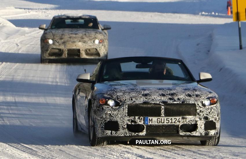 SPYSHOT: BMW Z5 dijumpai jalani ujian musim sejuk dengan kembarnya Toyota Supra generasi baharu Image #618489
