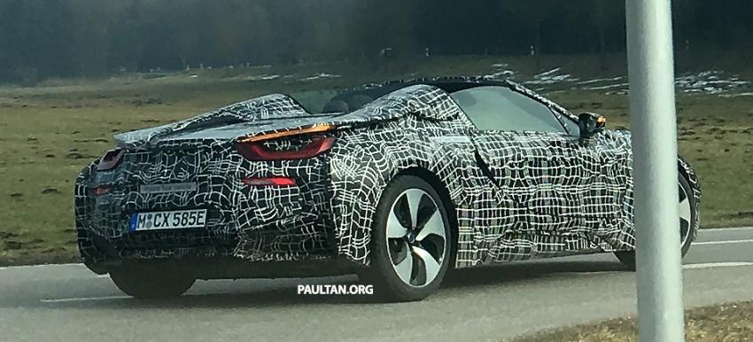 SPYSHOTS: BMW i8 Spyder spotted road testing Image #616231