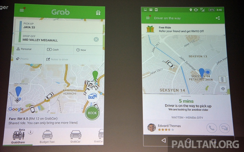GrabShare launched in Malaysia – on-demand carpooling, max four to a car, 30% lower fares Image #616575