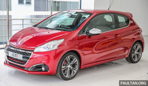 peugeot 208 gti facelift now on sale in m'sia – rm144k