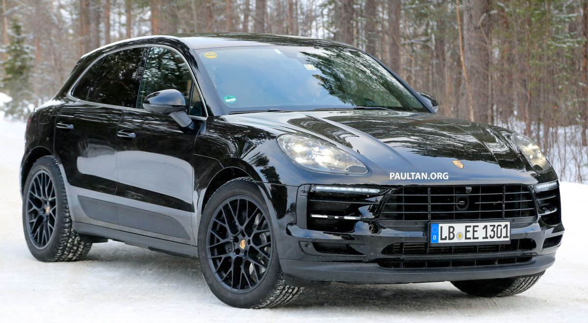 Spied Porsche Macan Facelift Undergoing Winter Trials 2018 Suv To Get New Turbocharged V6 Petrol Engines Autocar