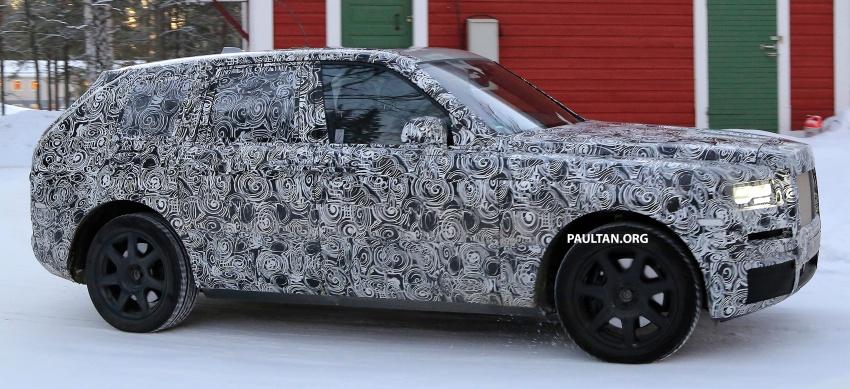 SPIED: Rolls-Royce Cullinan SUV running winter trials Image #613734
