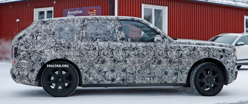SPIED: Rolls-Royce Cullinan SUV running winter trials Image #613750