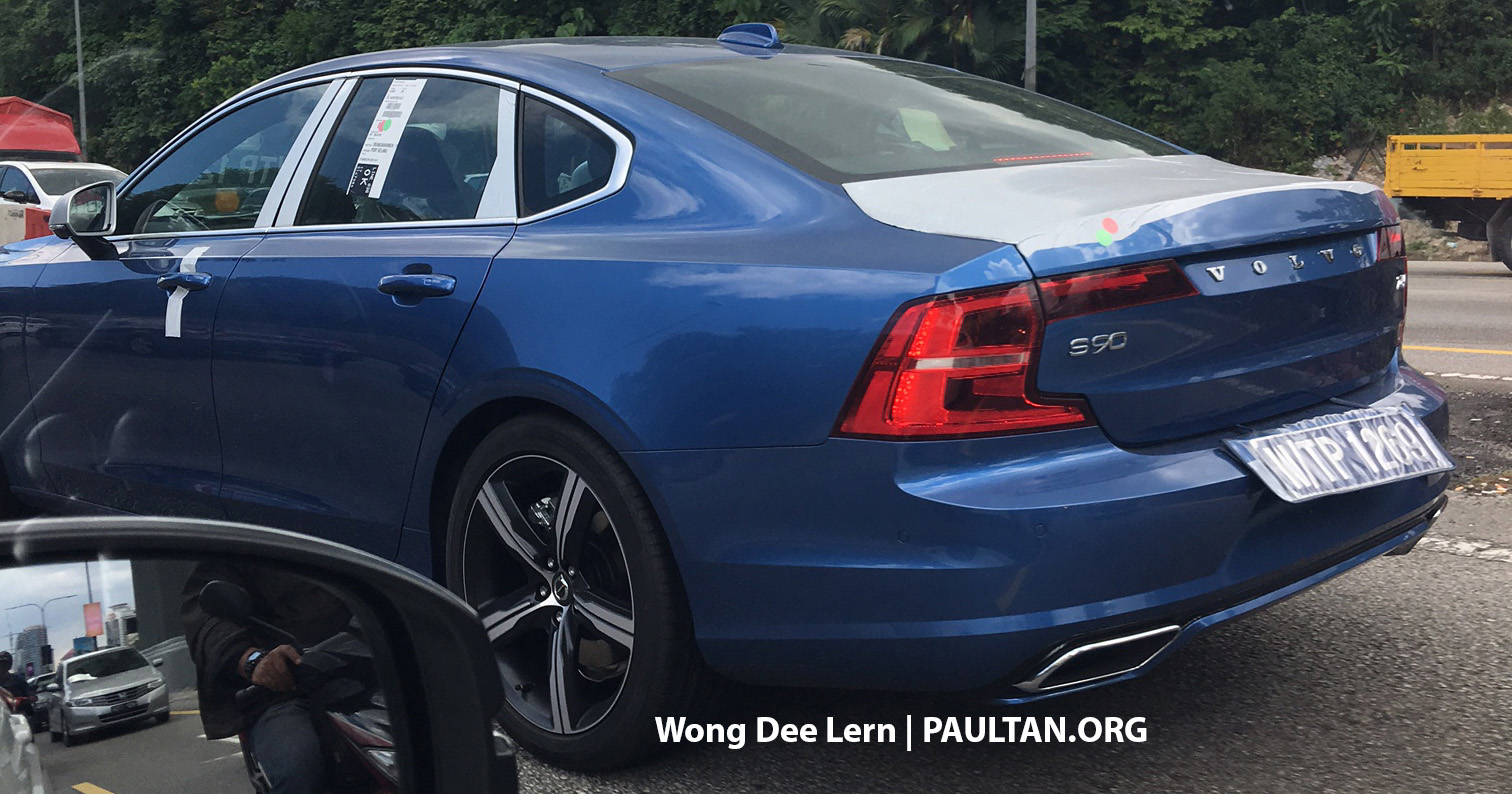 spied volvo s90 t6 awd r design seen in malaysia. Black Bedroom Furniture Sets. Home Design Ideas