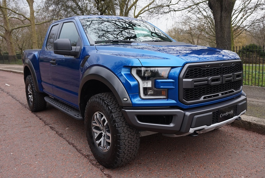 Ford raptor blue 4 door