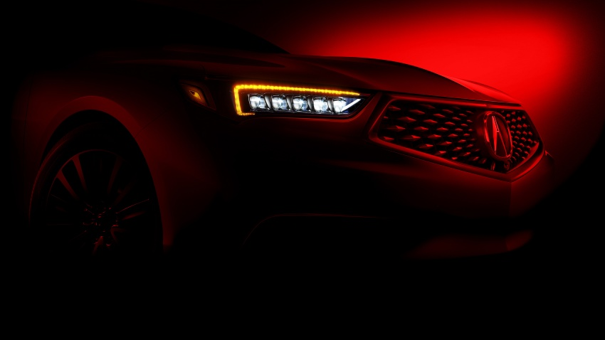 2018 Acura TLX teased ahead of New York reveal Image #637078