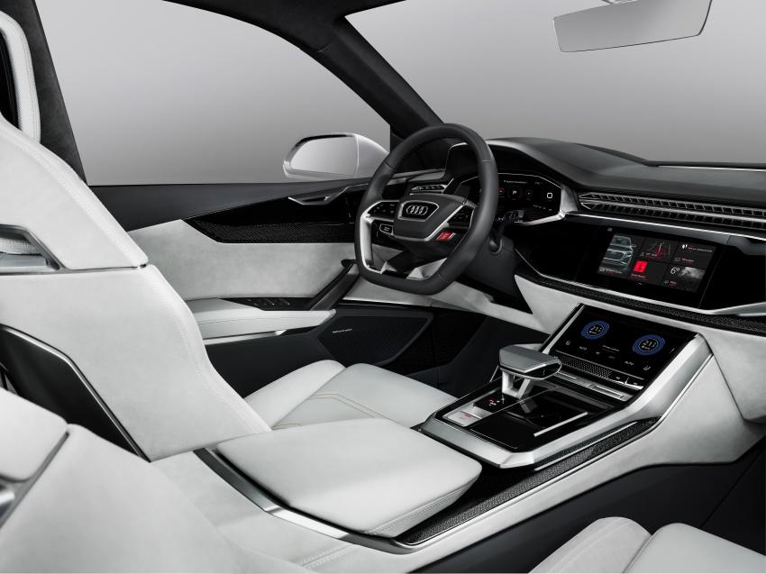 Audi Q8 sport debuts in Geneva – 1,200 km range Image #625628