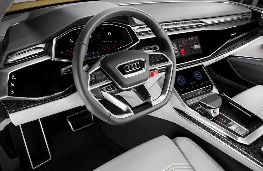 Audi Q8 sport debuts in Geneva – 1,200 km range Image #625634