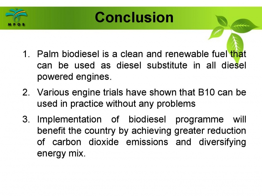 B10 biodiesel implementation in Malaysia – we speak with MPOB's biodiesel researcher, Dr Harrison Lau Image #624991