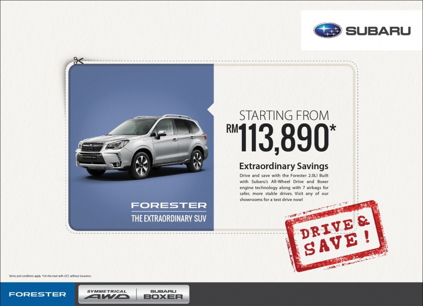 AD: Subaru XV and Forester deals – from RM109,968! Image #623551