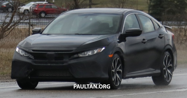 Spied honda civic si sedan version spotted testing for Honda civic si for sale in los angeles
