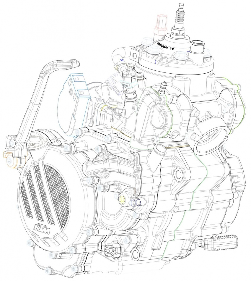 KTM unveils new two-stroke fuel injection engine Image #630469