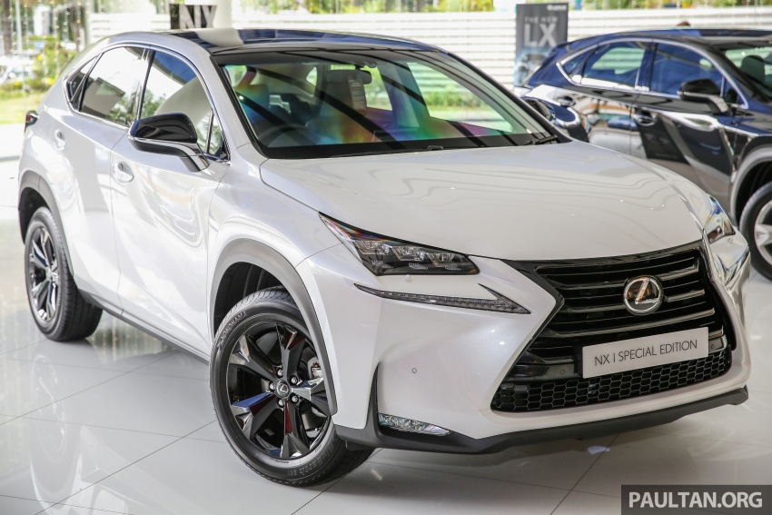 Lexus NX 200t range updated for MY2017 – Special Edition with blacked-out trim introduced Image #623872