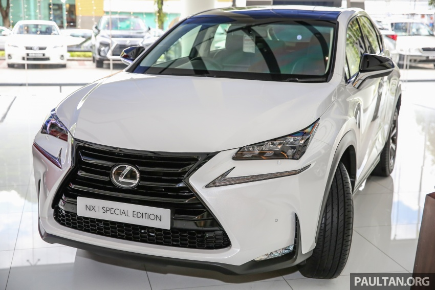 Lexus NX 200t range updated for MY2017 – Special Edition with blacked-out trim introduced Image #623873