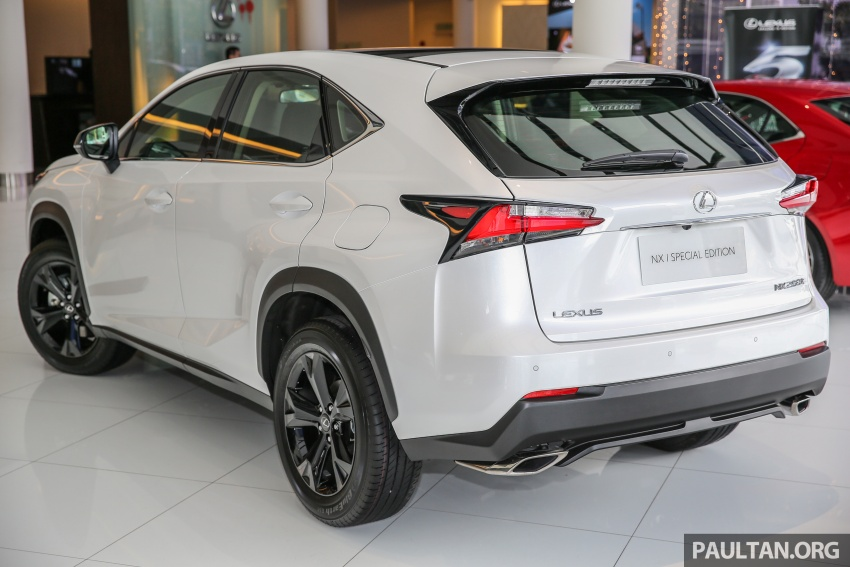 Lexus NX 200t range updated for MY2017 – Special Edition with blacked-out trim introduced Image #623875