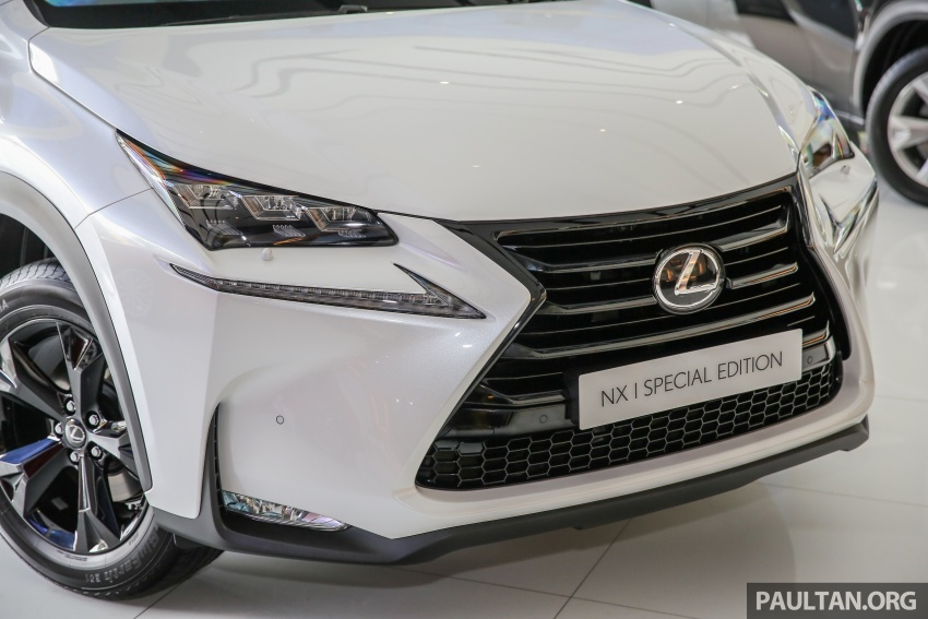 Lexus NX 200t range updated for MY2017 – Special Edition with blacked-out trim introduced Image #623882