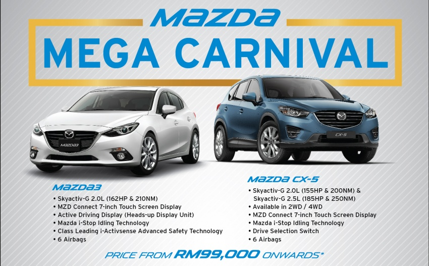 Mazda Mega Carnival – Mazda 3 now from RM99,000 Image #634485