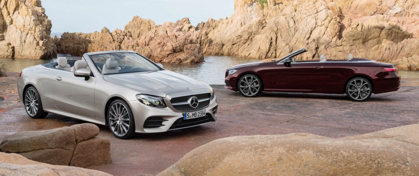 New Mercedes-Benz E-Class Cabriolet unveiled – fabric soft top, more space for rear occupants Image #622917