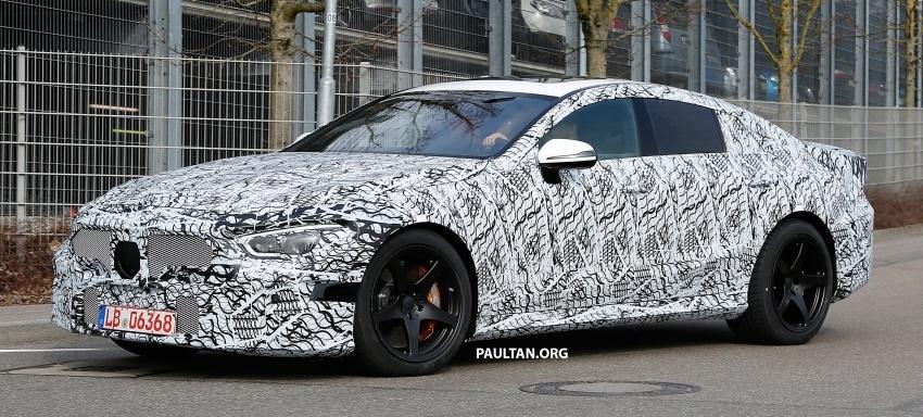 SPYSHOT: Mercedes-AMG GT empat pintu kini diuji Image #631812