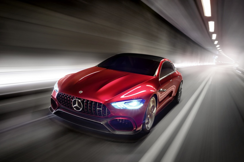 Mercedes-AMG GT Concept – four-door sports car gets 815 hp; 0 to 100 km/h in 'less than three seconds' Image #625682