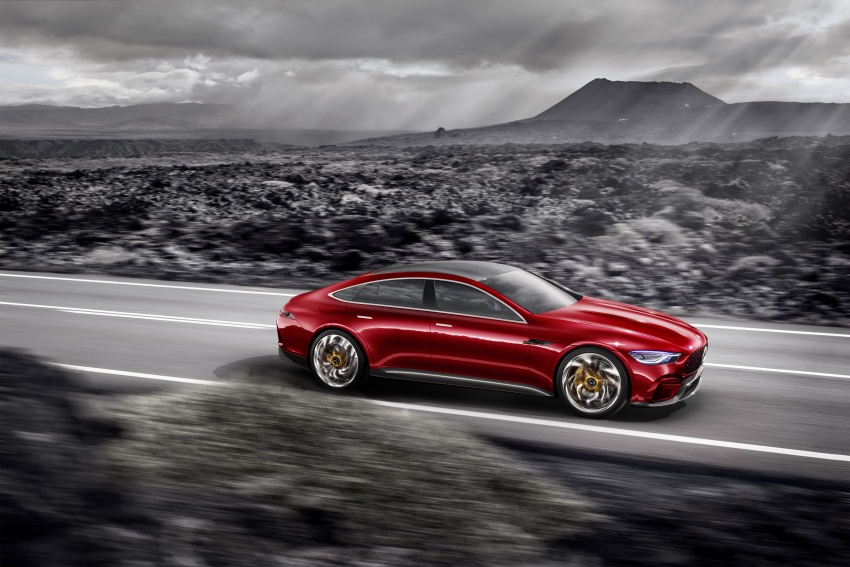 Mercedes-AMG GT Concept – four-door sports car gets 815 hp; 0 to 100 km/h in 'less than three seconds' Image #625684