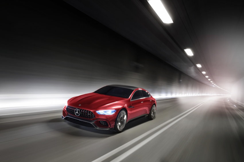 Mercedes-AMG GT Concept – four-door sports car gets 815 hp; 0 to 100 km/h in 'less than three seconds' Image #625687