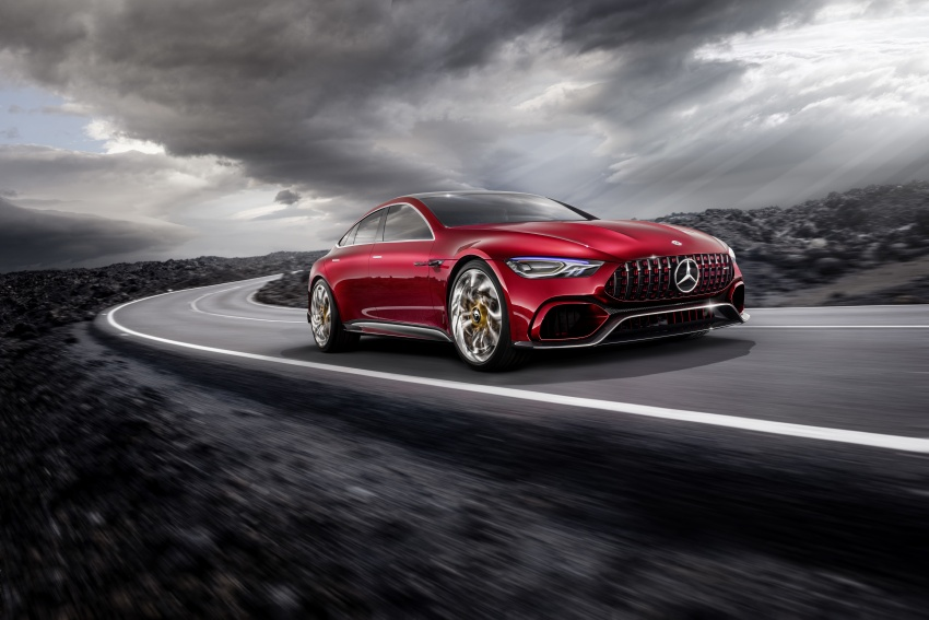 Mercedes-AMG GT Concept – four-door sports car gets 815 hp; 0 to 100 km/h in 'less than three seconds' Image #625689