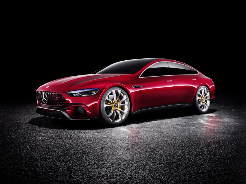 Mercedes-AMG GT Concept – four-door sports car gets 815 hp; 0 to 100 km/h in 'less than three seconds' Image #625692