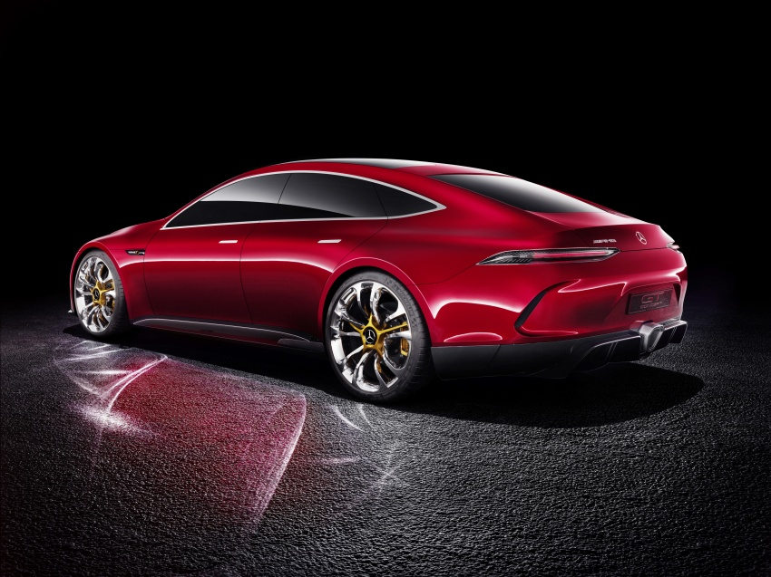 Mercedes-AMG GT Concept – four-door sports car gets 815 hp; 0 to 100 km/h in 'less than three seconds' Image #625693