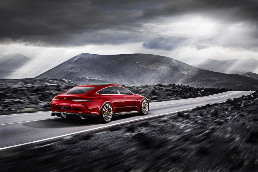 Mercedes-AMG GT Concept – four-door sports car gets 815 hp; 0 to 100 km/h in 'less than three seconds' Image #625700
