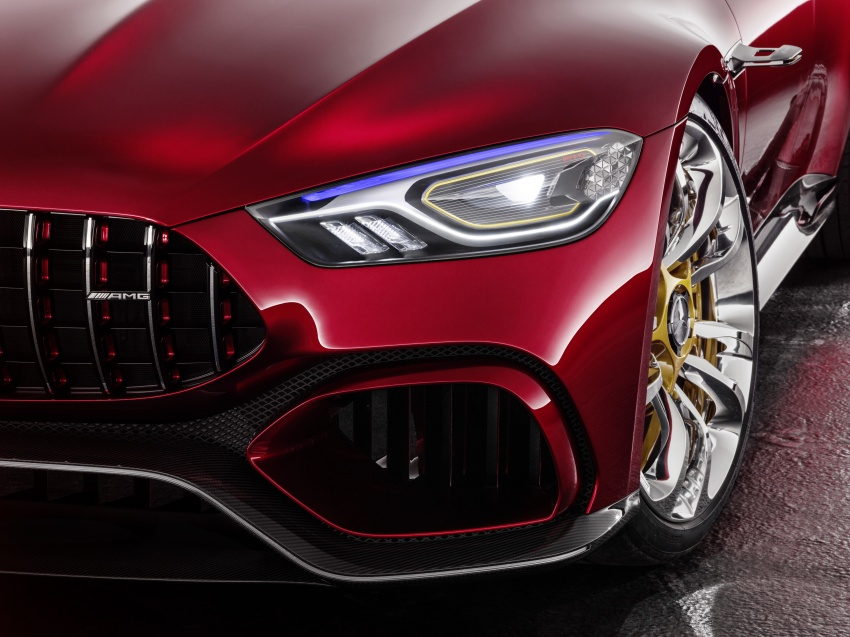 Mercedes-AMG GT Concept – four-door sports car gets 815 hp; 0 to 100 km/h in 'less than three seconds' Image #625702