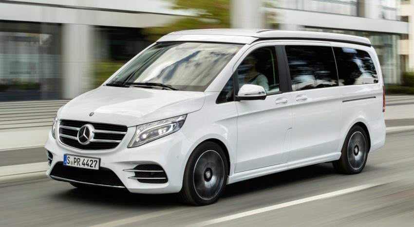 Mercedes benz v class marco polo horizon akan ke geneva tampil 5 tempat tidur untuk pengembara