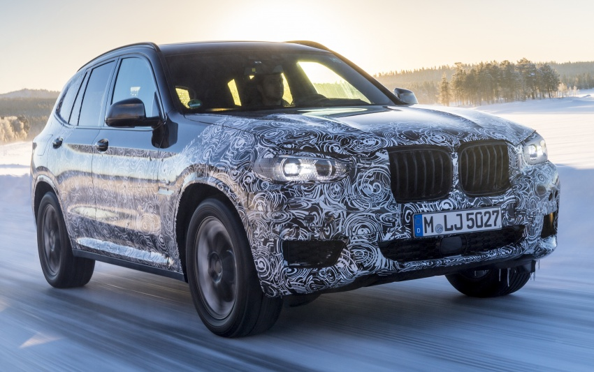 """G01 BMW X3 shown in official """"spy photos"""" – M40i? Image #624492"""