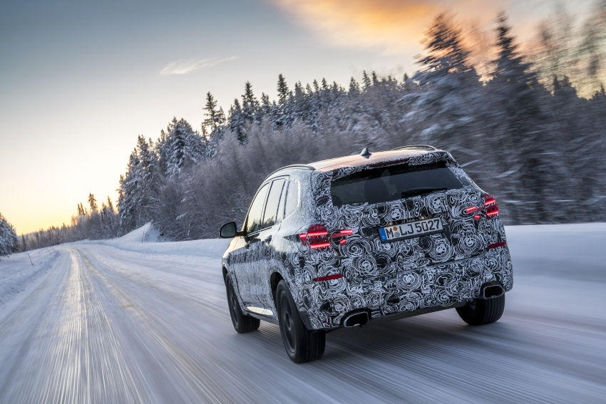 """G01 BMW X3 shown in official """"spy photos"""" – M40i? Image #624494"""