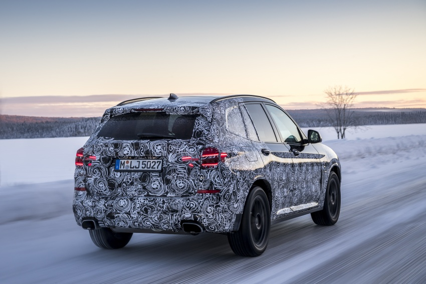 """G01 BMW X3 shown in official """"spy photos"""" – M40i? Image #624496"""