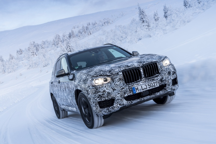 """G01 BMW X3 shown in official """"spy photos"""" – M40i? Image #624512"""