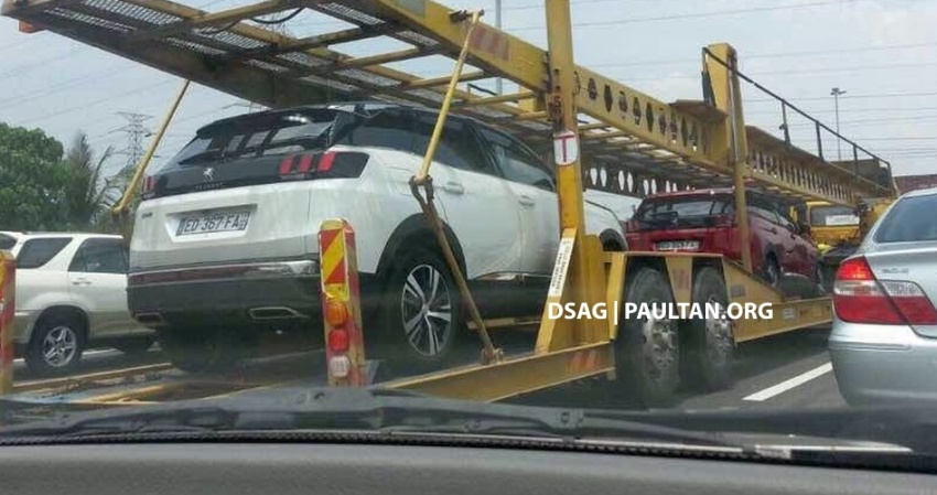 SPIED: Peugeot 3008 1.6L THP on a trailer in Malaysia Image #631509