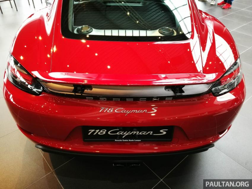 Porsche 718 Cayman, Cayman S make Malaysian debut at new Porsche Centre Penang, from RM530k Image #630754