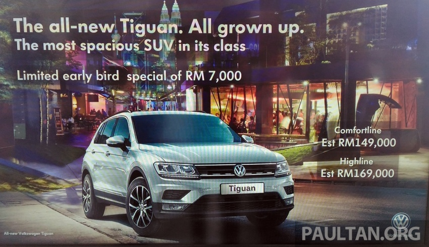 New Volkswagen Tiguan 1.4 TSI in Malaysia, fr RM149k Image #621938