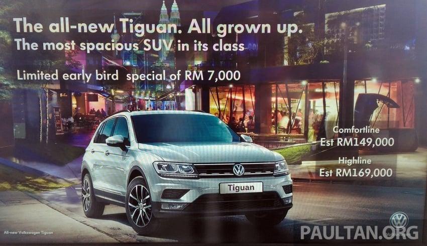 New Volkswagen Tiguan 1.4 TSI in Malaysia, fr RM149k Image #621938