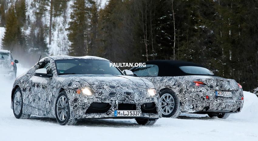 SPYSHOTS: Toyota Supra alongside BMW Z5 sister Image #632213